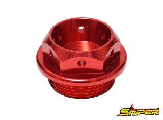 カワサキ スズキ アルミ製 オイルフィラーキャップ 赤 M30 x P1.5 汎用