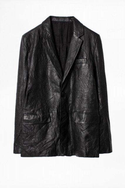 VALFRIED CRINKLE LEATHER ジャケット