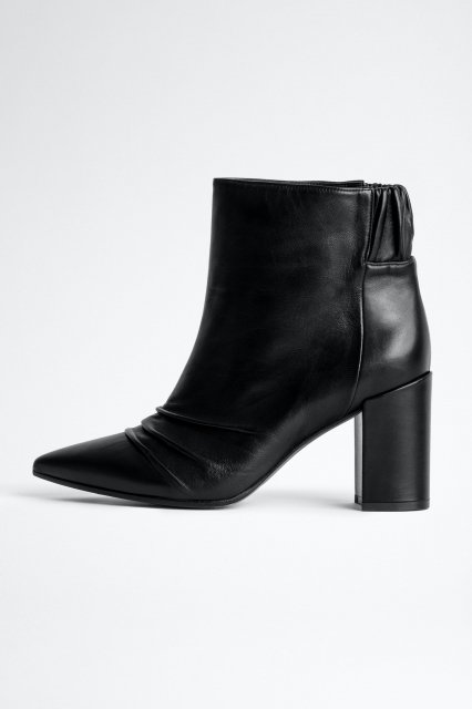 GLIMMER ELASTIC SILK LAMBSKIN ブーツ