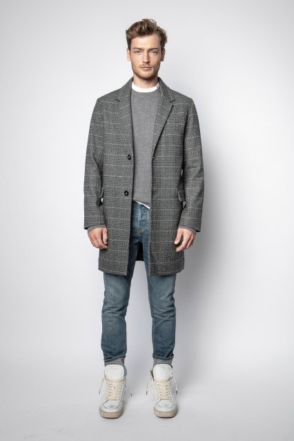 MARLO WOOL CHECK アウター