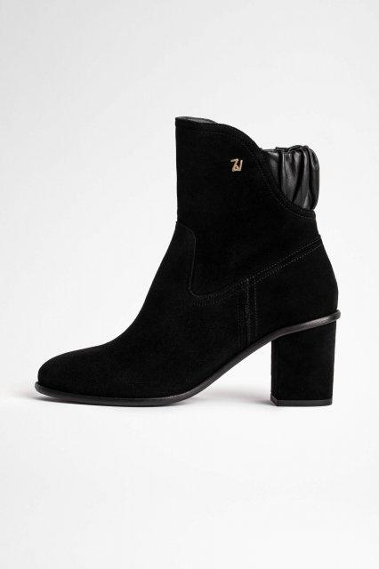 LENA SUEDE ELASTIC ブーツ