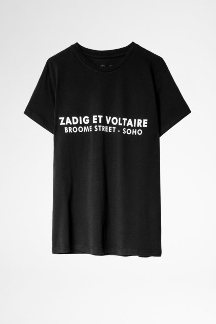 ZOE ZV ADDRESS ORGANIC COTON PRINT Tシャツ
