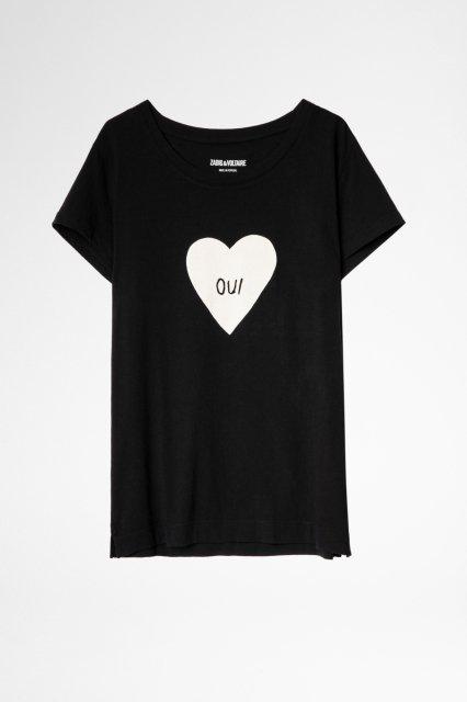 ALYS COEUR OUI COTON PRINT Tシャツ
