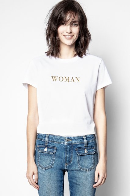ZOE CITATION PRINT Tシャツ