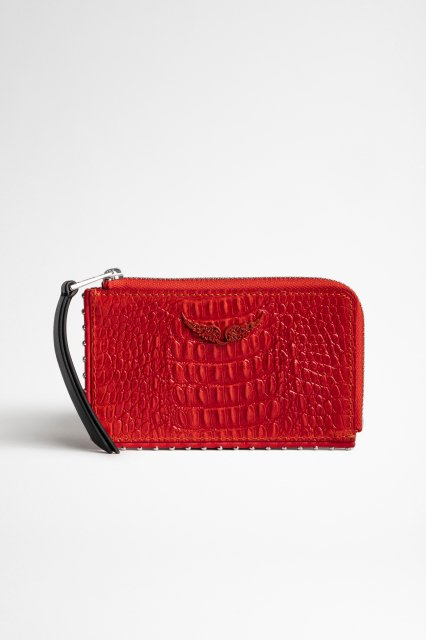 ZV CARD EMBOSSED TINY CROCO 財布
