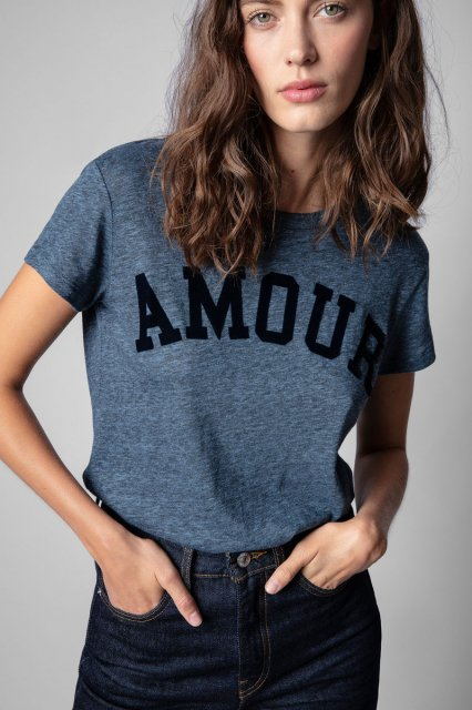 WALK AMOUR CHINE OVERDYED Tシャツ