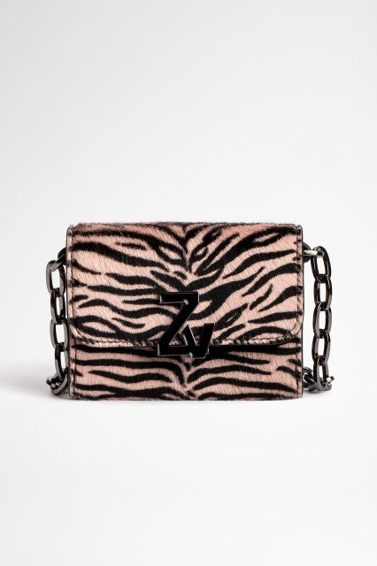 ZV INITIALE LE TINY UNCHAINED ZEBRA PRINTED COWSKI 財布
