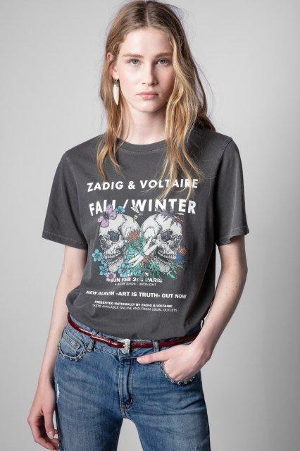 BELLA COMPO ROCK SKULL Tシャツ