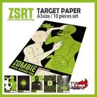 【送料無料】【メール便のみ】 ZSRTターゲットペーパー A3サイズ 10枚セット / ZSRT 2nd line(同梱不可)