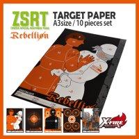 【送料無料】【メール便のみ】 Rebellionターゲットペーパー A3サイズ 10枚セット / ZSRT 2nd line(同梱不可)