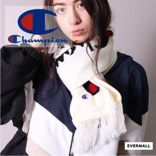 【チャンピオン】マフラー メンズ レディース 秋冬 アクリル100% ホワイト ブラック グレー  Champion hyc_786-0019