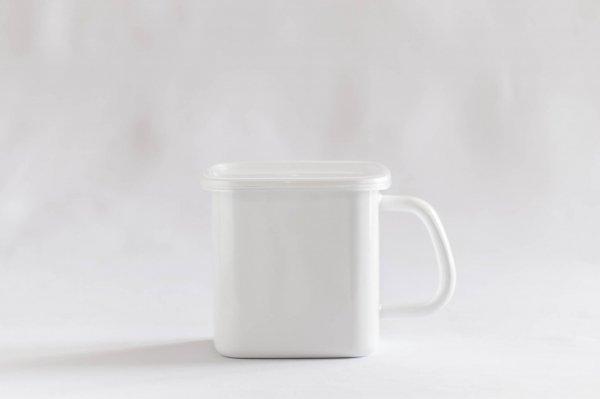 White series 持ち手付ストッカー角型L(シール蓋付き)