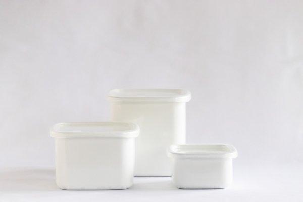 White Series スクウェア(シール蓋付き)