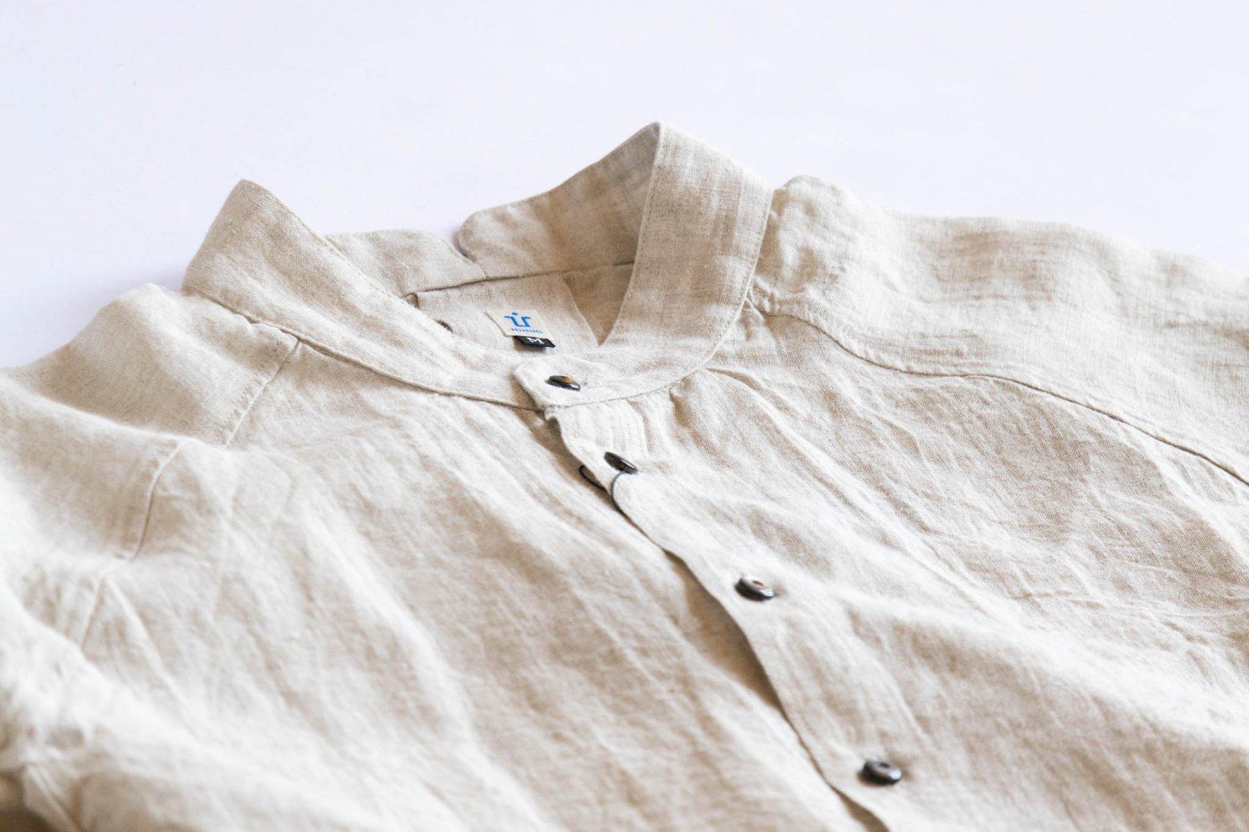 ゴデシャツ Linen/Kinari-1