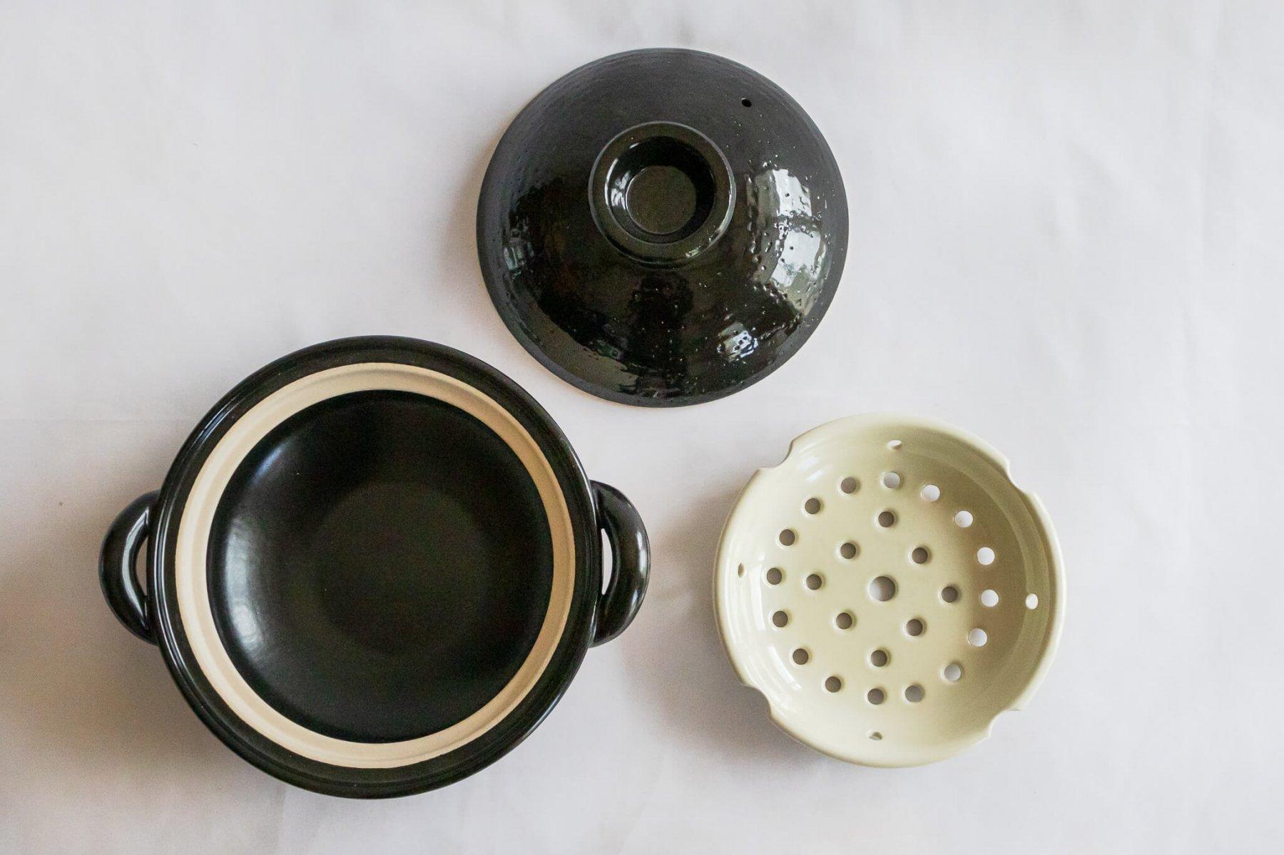 ヘルシー蒸し鍋 黒 (中)-1