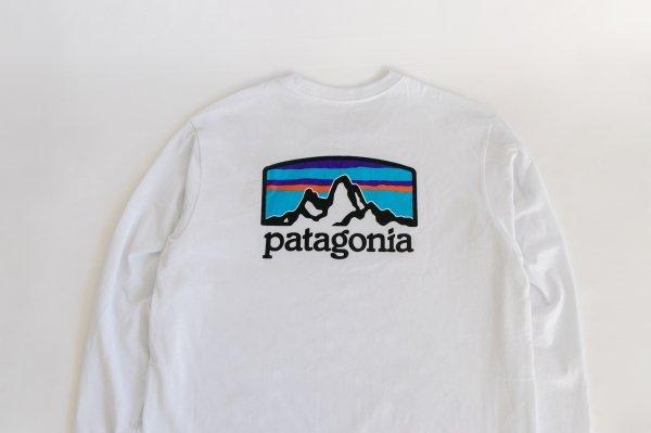 Patagonia(パタゴニア)Ms Long-Sleeved Fitz Roy Horizons Responsibili-Tee(White)