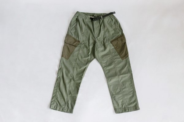 WILDTHINGS(ワイルドシングス)Back Satin Field Cargo Pants(Olive Drab)