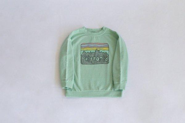 Patagonia(パタゴニア)Baby Lightweight Crew Sweatshirt(Fitz Roy Skies:Gypsum Green)