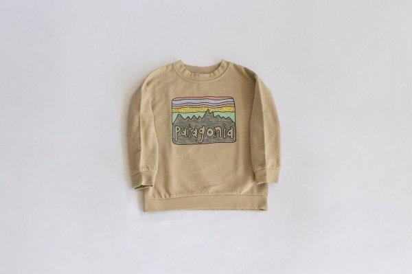 Patagonia(パタゴニア)Baby Lightweight Crew Sweatshirt(Fitz Roy Skies:El Cap Khaki)