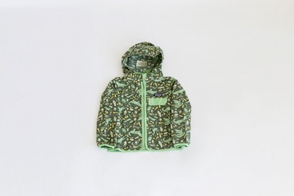Patagonia(パタゴニア)Baby Baggies Jacket(Alligators and Bullfrogs:Kale Green)