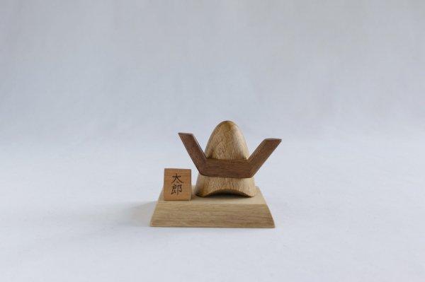 木の兜飾り 両角