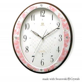 有田焼磁器枠時計 吉野桜
