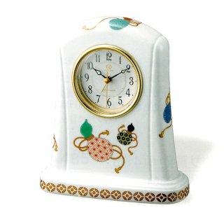 有田焼磁器枠時計 瓢箪の図
