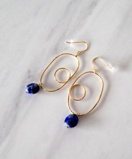 Nuance Natural stone Pierce 〜Lapis lazuli〜