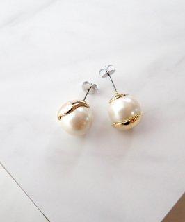 Metal glass pearl pierce ~Asymmetry~