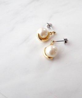 Metal glass pearl pierce ~Swing~