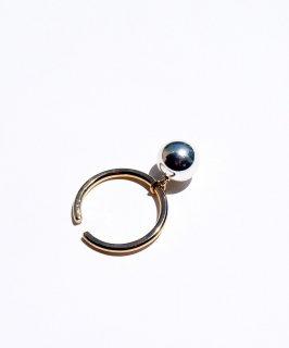 Silver color ball earcuff -2way-