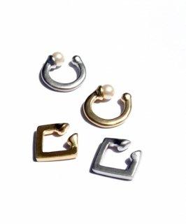 Set matte metal ear cuff