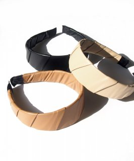 Leather wide hair band