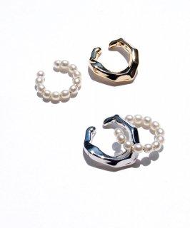 Set pearl ear cuff