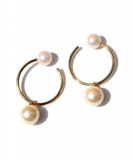 Pair pearl ear cuff -2way-
