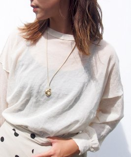 Leather code necklace
