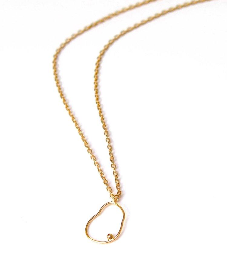 Curve line mini one-top necklace