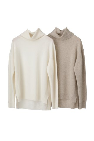 cashmere turtle knit