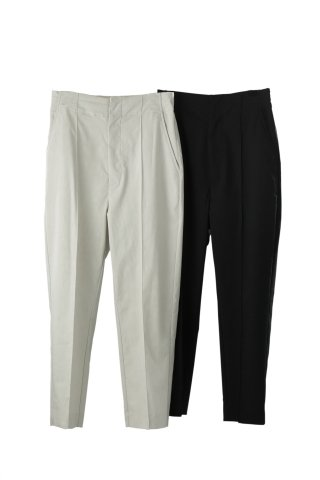 nylon taperd trousers