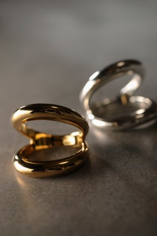 classic 2line ring