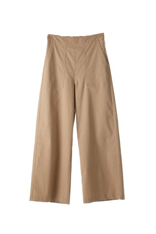 nylon wide trousers
