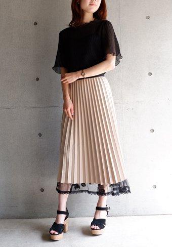 プリーツリバーシブルスカート
