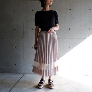 シアーラインプリーツスカート