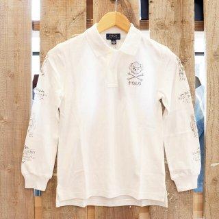 【ボーイズ】Polo Ralph Lauren(ポロラルフローレン):ポロベアー長袖ポロシャツ