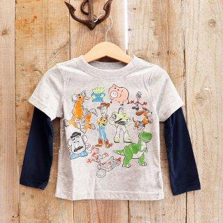 【ボーイズ】Disney(ディズニー):トイストーリー レイヤードTシャツ