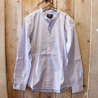 Abercrombie & Fitch(アバクロンビーアンドフィッチ):バンドカラーシャツ/Blue