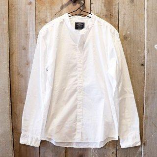 Abercrombie & Fitch(アバクロンビーアンドフィッチ):バンドカラーシャツ/White