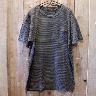 RRL(ダブルアールエルラルフローレン):インディゴストライプTシャツ