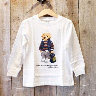 【ボーイズ】Polo Ralph Lauren(ポロラルフローレン):ポロベアー長袖Tシャツ