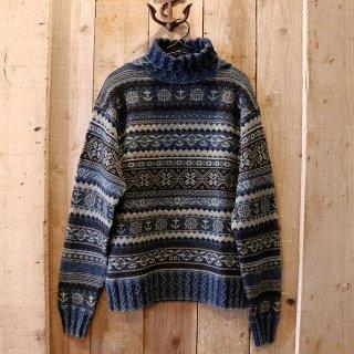 RRL(ダブルアールエルラルフローレン):インディゴ フェアアイルセーター